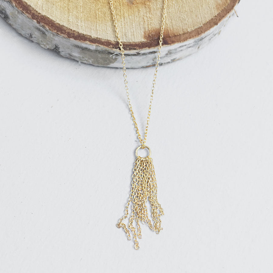 Multi Graduated Chains Necklace in Gold