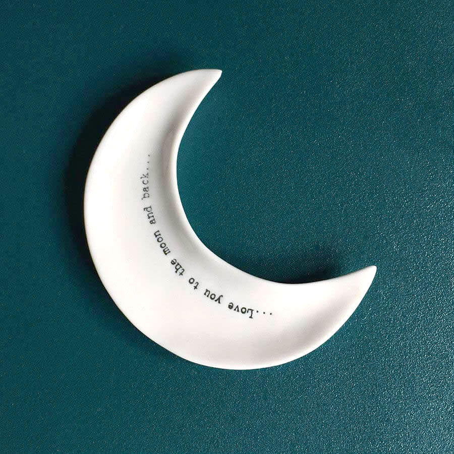 Wobbly Porcelain Crescent Moon Dish