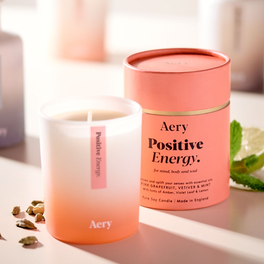 Positive Energy Pink Grapefruit, Vetiver & Mint Candle
