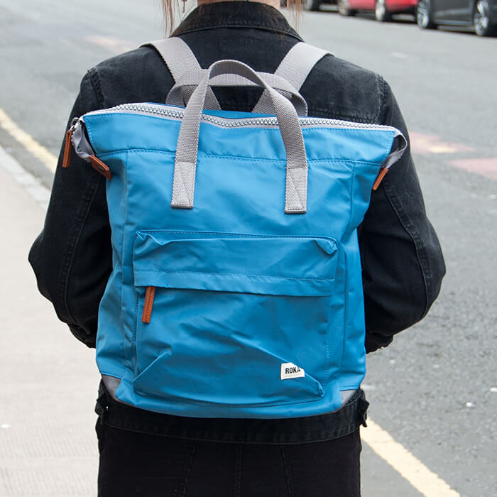 Atlantic Blue Medium Nylon Backpack
