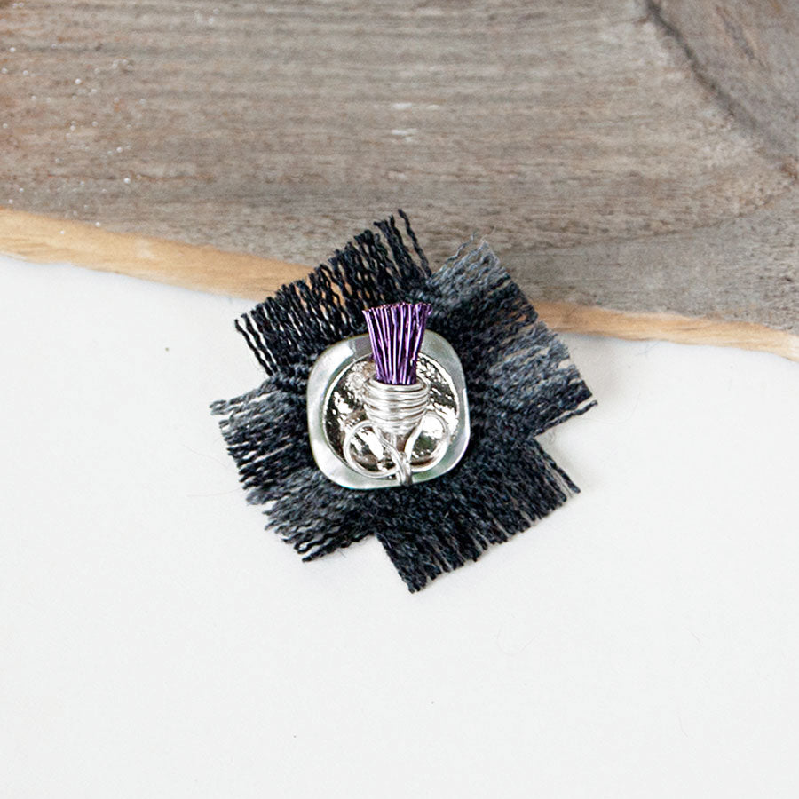 Thistle Wire Square Tie Pin