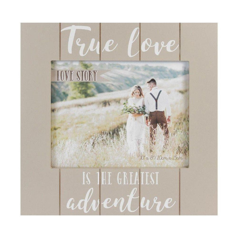 True Love Love Story Wood Look Frame