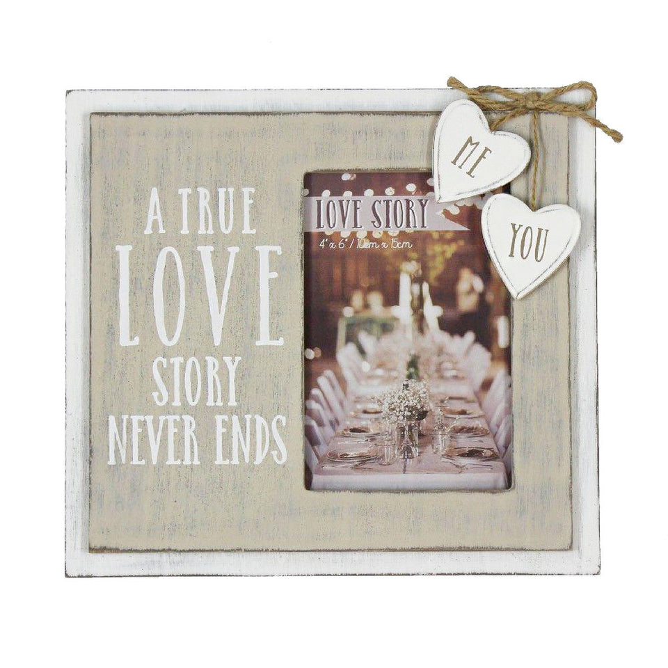 True Love Story Wooden Frame