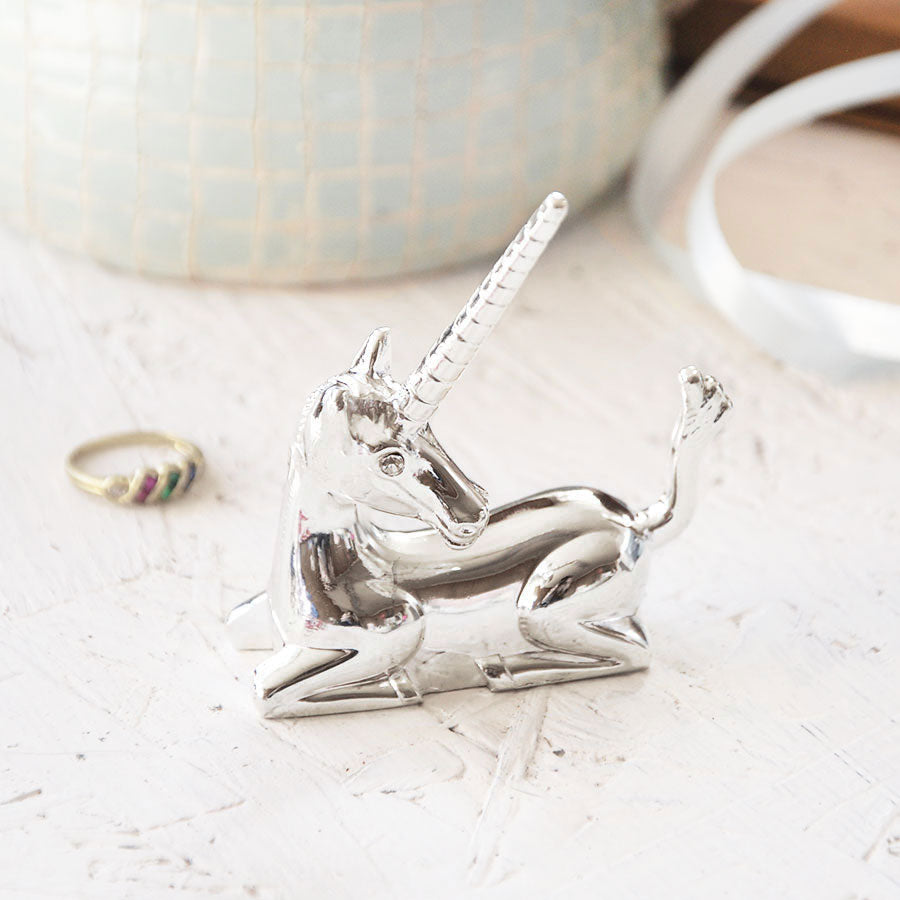 Silver Unicorn Ring Holder