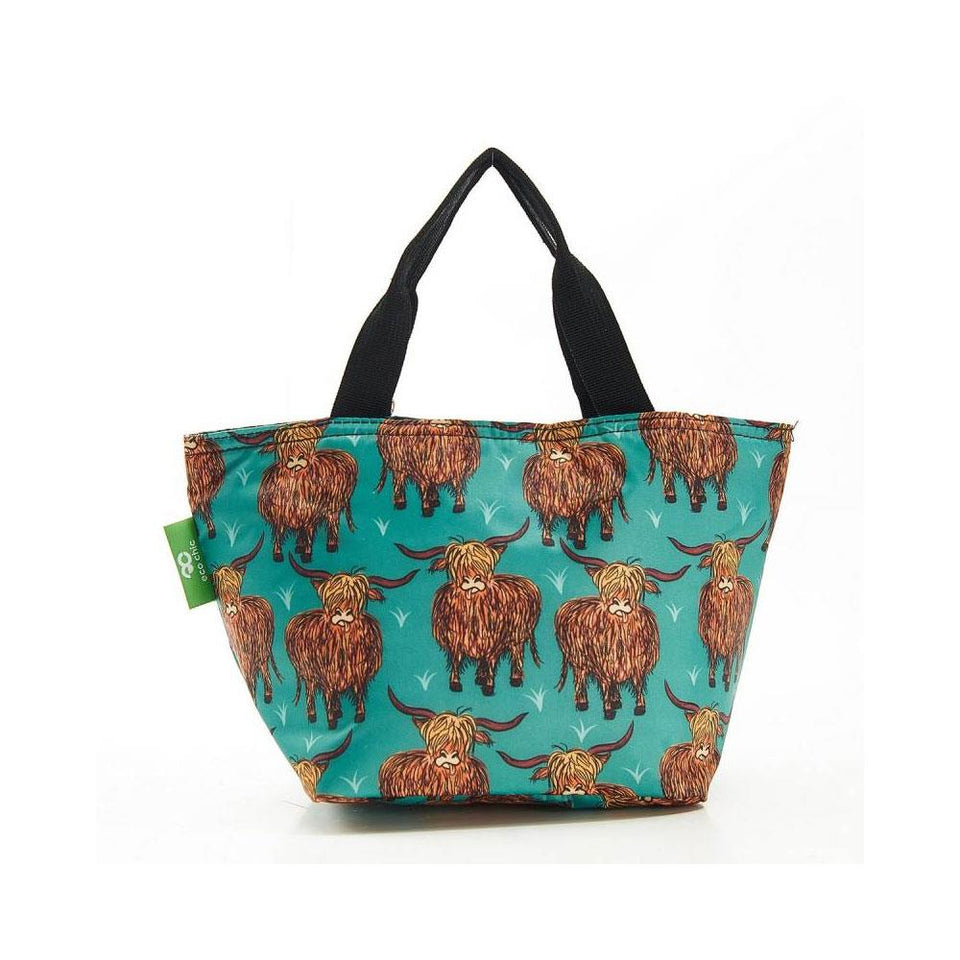 Teal Highland Cow Lunch Bag