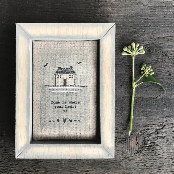 Home Is Embroidered Box Frame Decoration