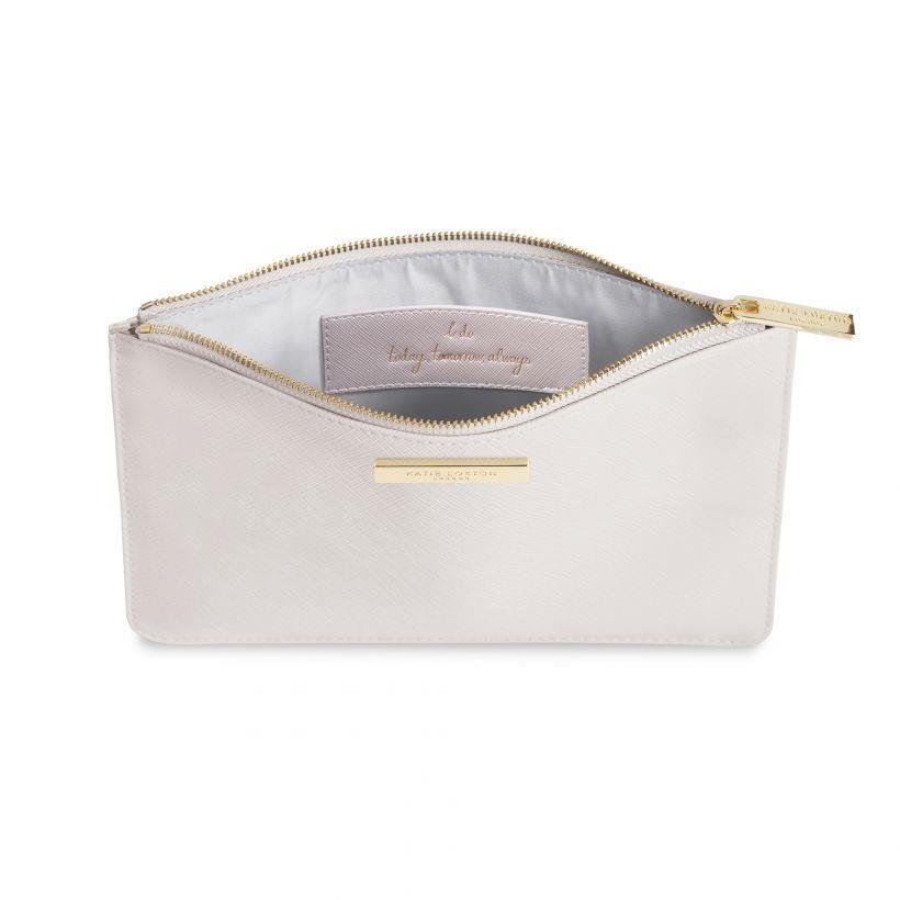 Bride Secret Message Perfect Pouch | Pearlesent White