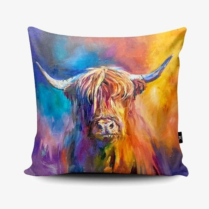 Harris Highland Cow Cushion