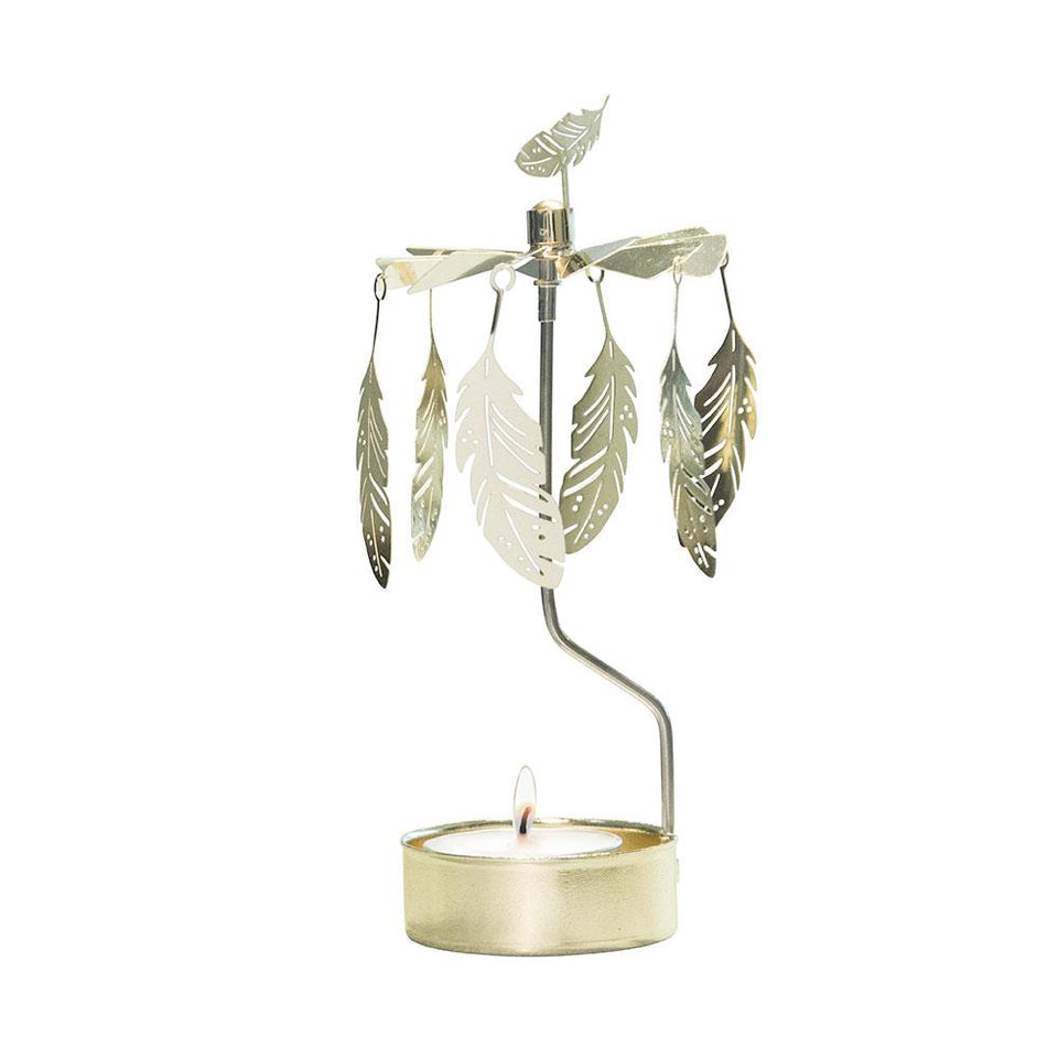 Gold Feather Tea Light Rotary