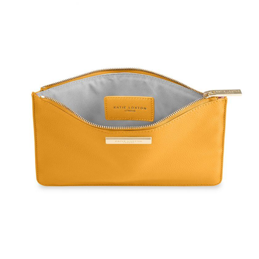 Ochre Yellow Soft Pebble Pouch