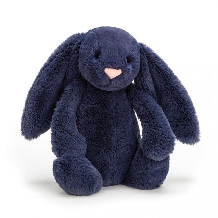 Navy Bashful Bunny Small Soft Toy