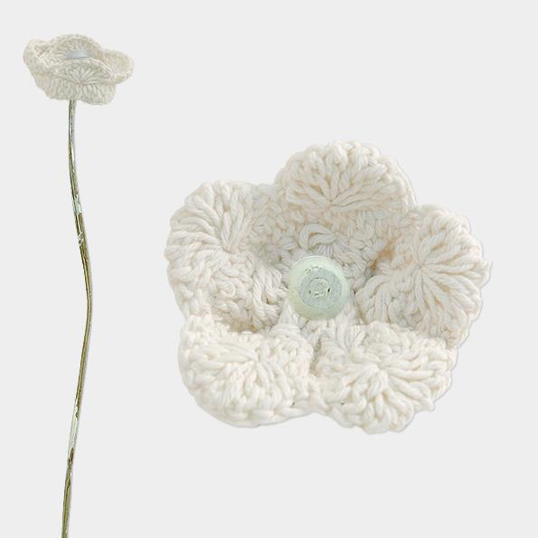 Cream Crochet Flower