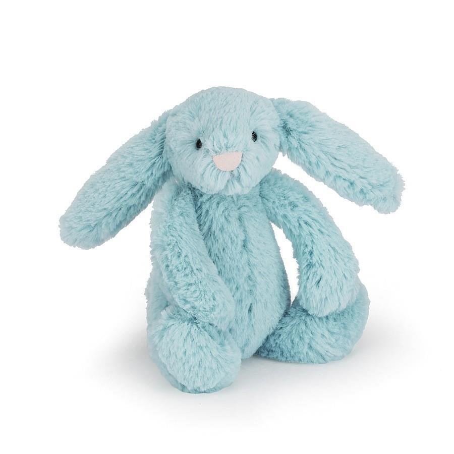 Aqua Blue Small Bashful Bunny