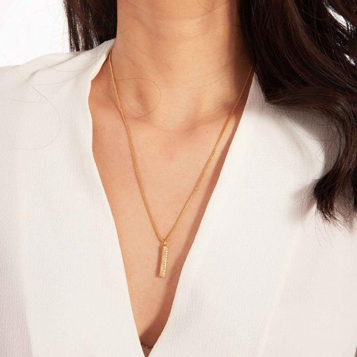 Alexis Bar Gold Necklace
