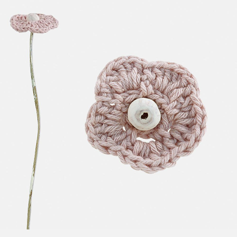 Soft Pink Crochet Flower Decoration