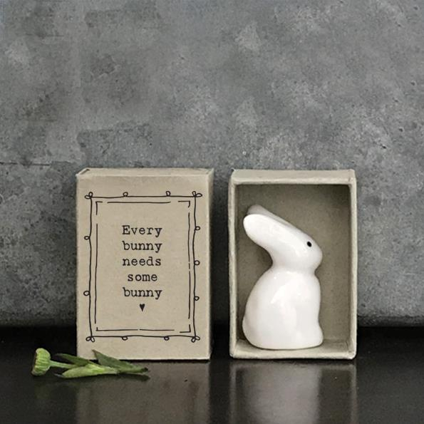 Small Porcelain Bunny in Matchbox