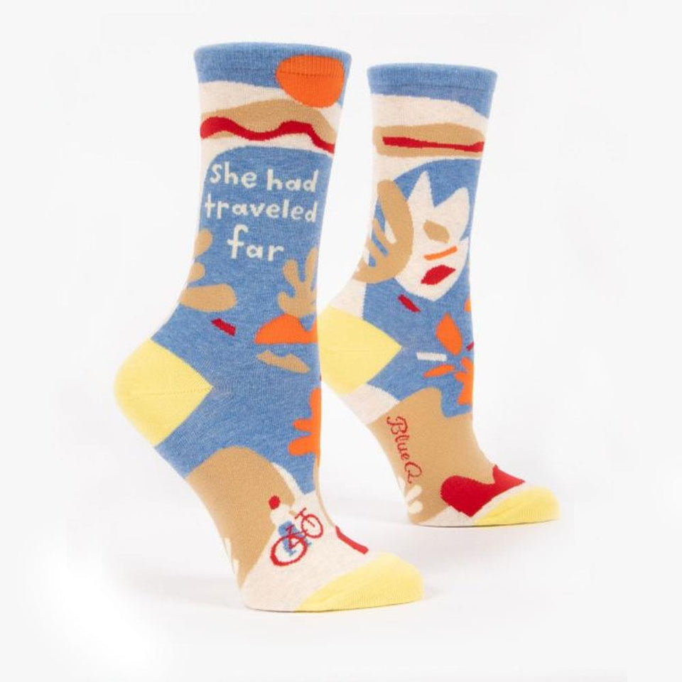 She Had Travelled Far Women's Crew Socks
