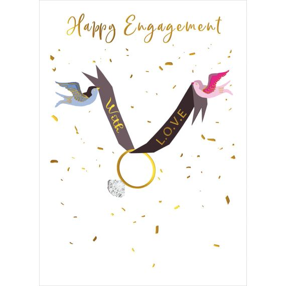 Engagement Birds Card