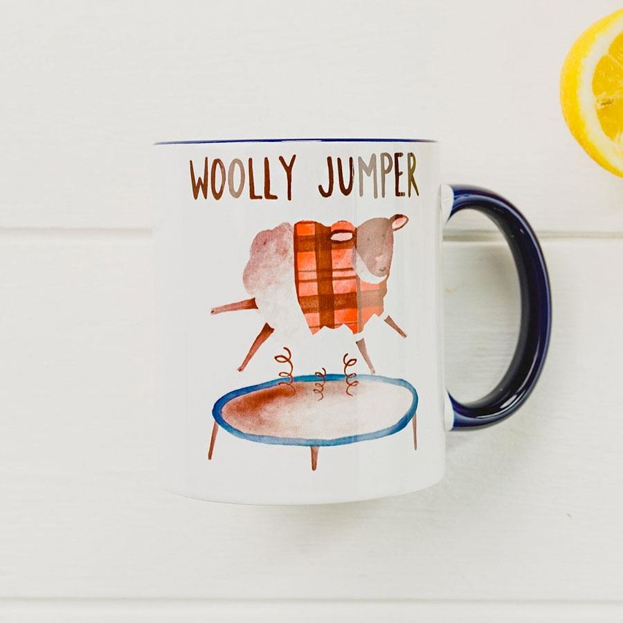Woolly Jumper Sheep Ceramic Mug