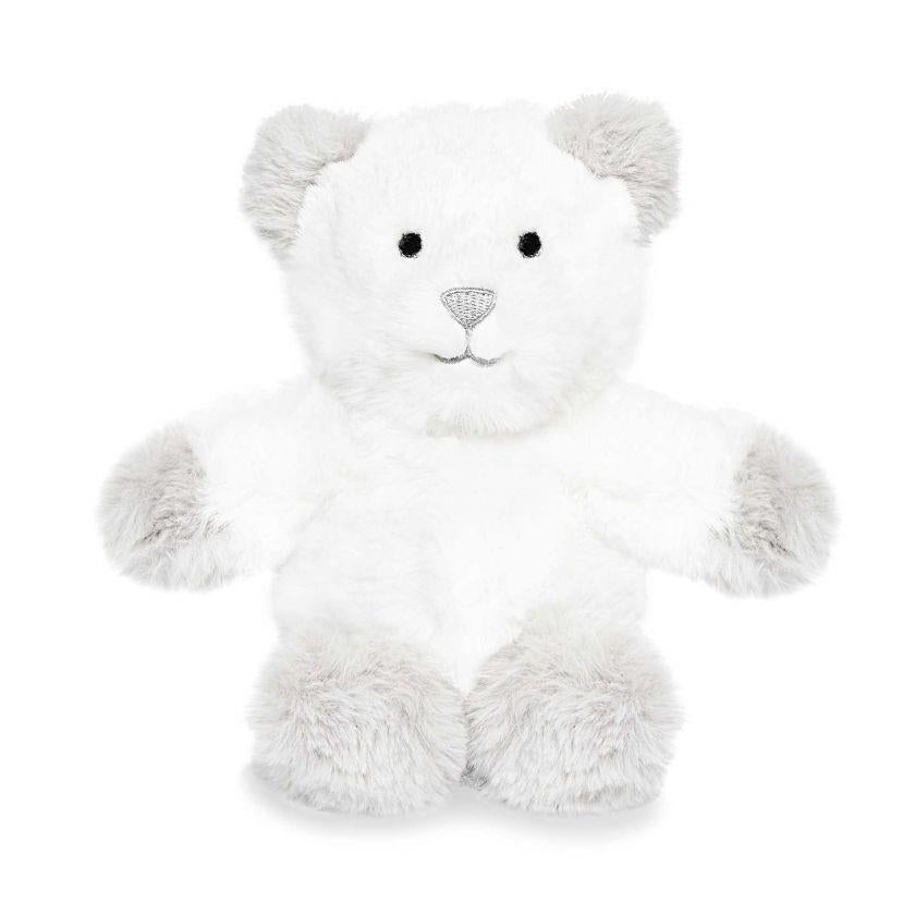 White and Grey Bear Baby Toy