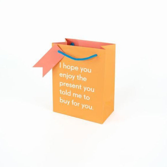 Small Enjoy The Present Gift Bag