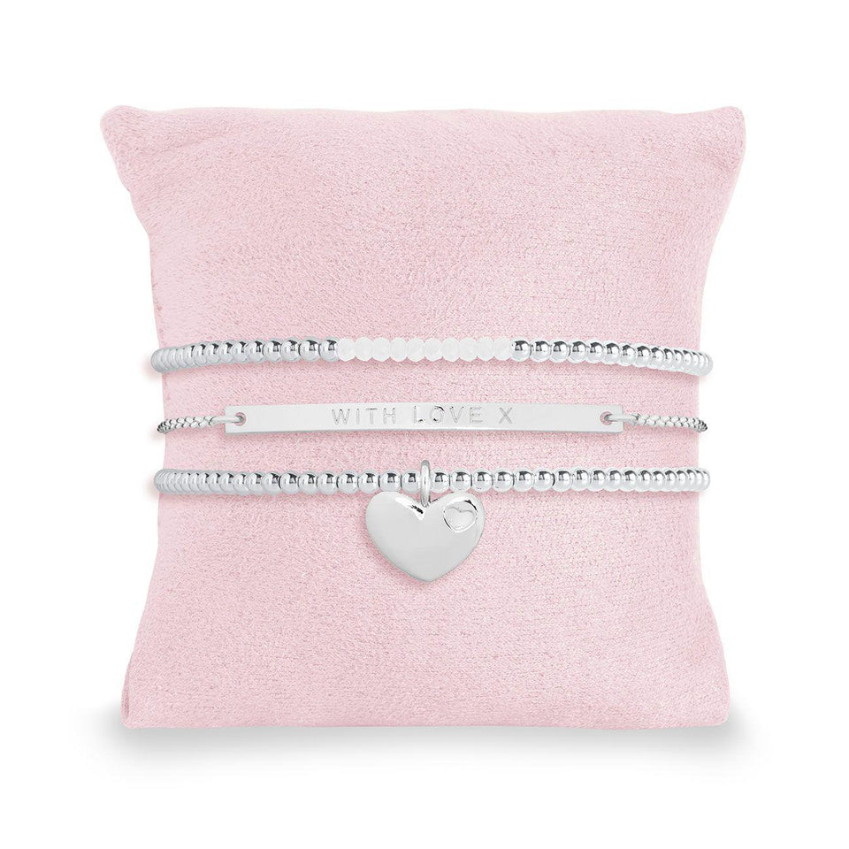 With Love X Stacking Bracelets Gift Set