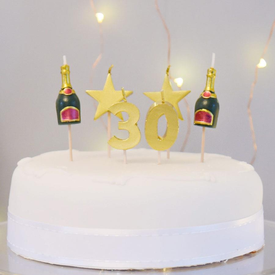 30 Cake Topper Candle Set
