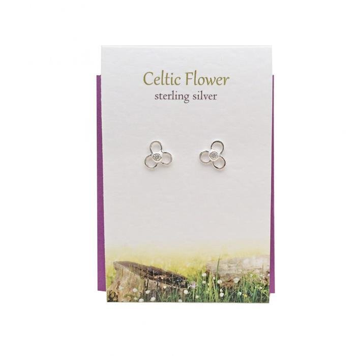 Celtic Flower Stud Earrings