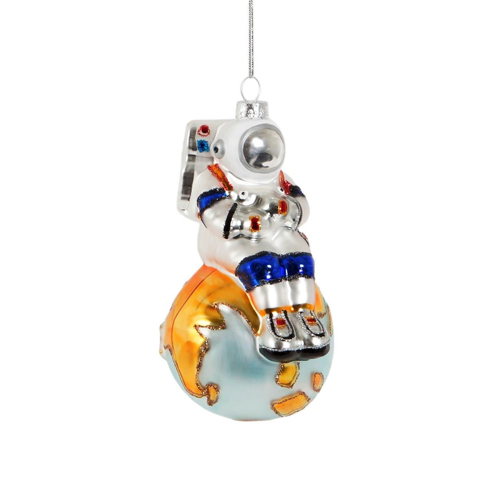 On Top of The World Astronaut Shaped Bauble