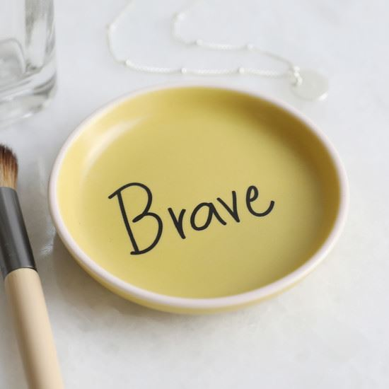 Mustard Yellow Brave Ceramic Trinket Dish