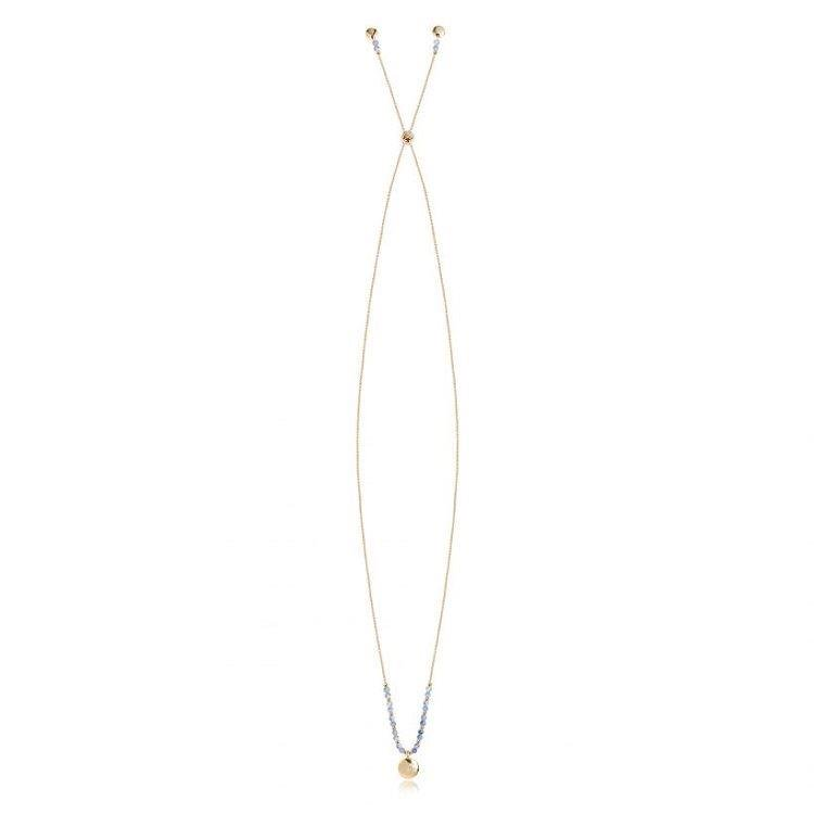 Yellow Gold Signature Stones Friendship Necklace