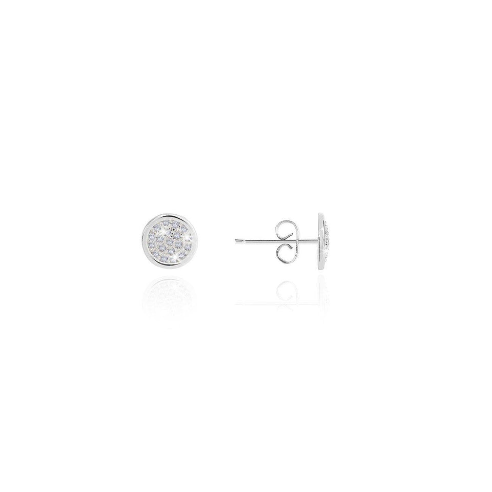 Just For You Sparkling Disc Stud Earrings