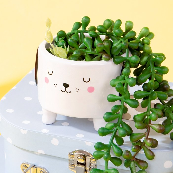 Barney The Dog Shaped Planter