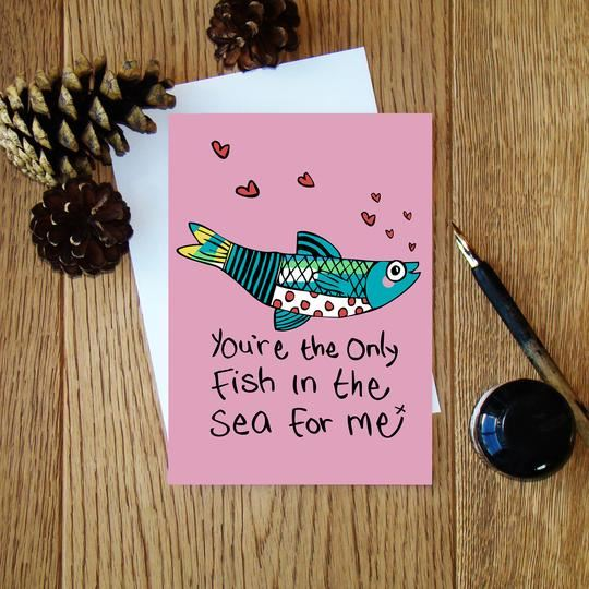 Only Fish in the Sea Card