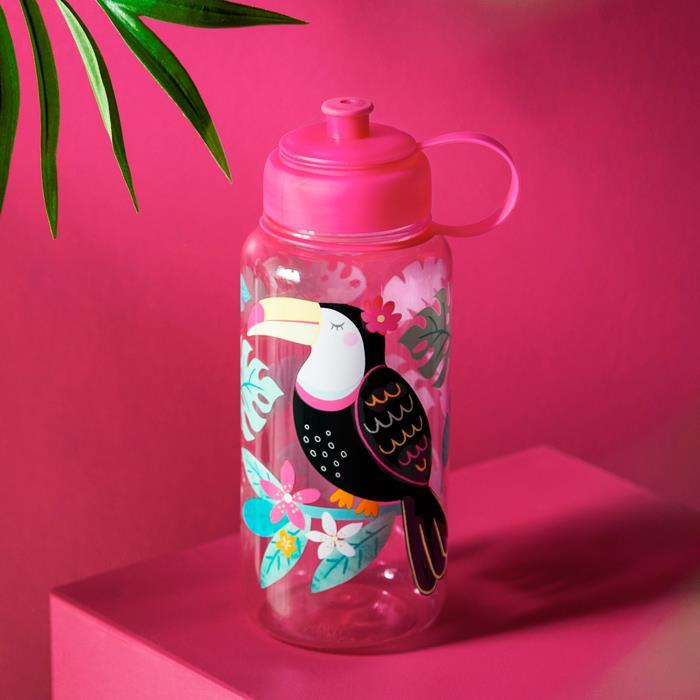 Tiki Toucan Water Bottle