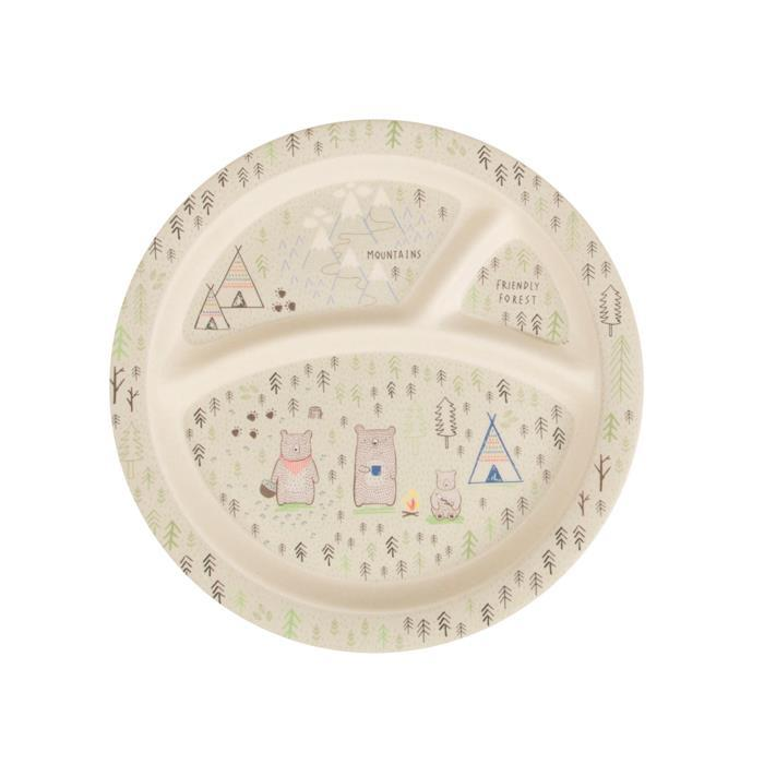 Bear Camp Kid's Plate