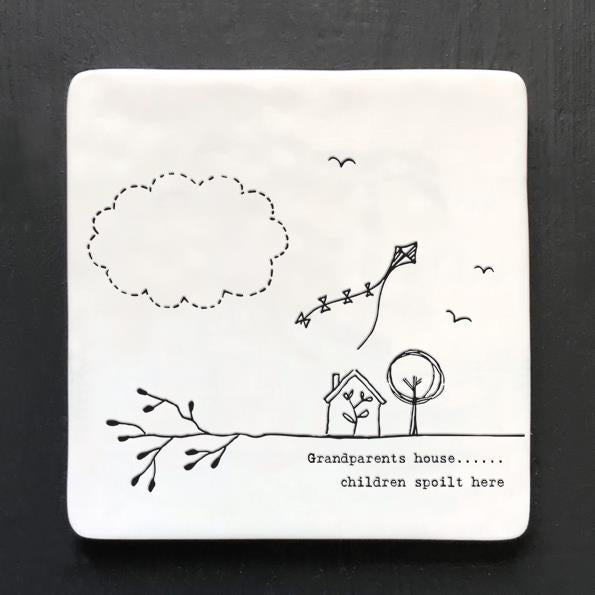 Grandparents Square Porcelain Coaster