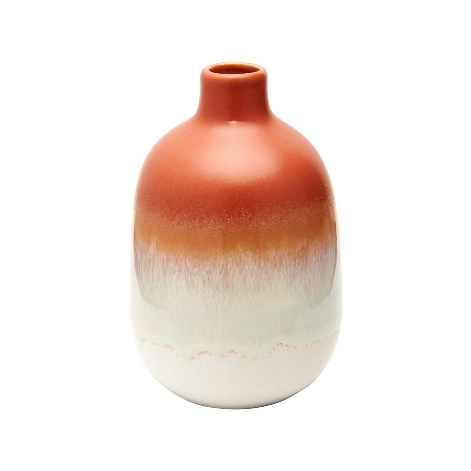 Mojave Glaze Ombre Brown Ceramic Vase
