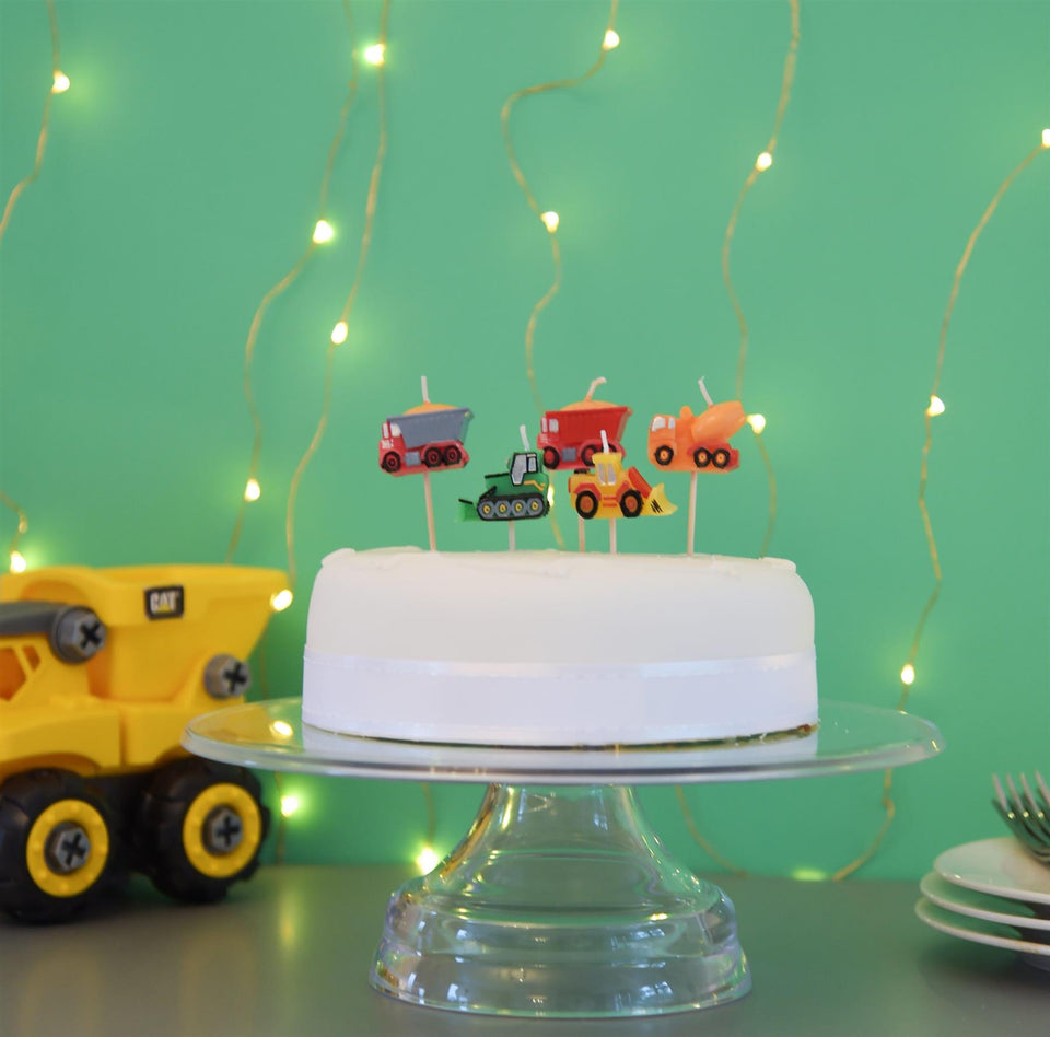Construction Cake Topper Candle Set