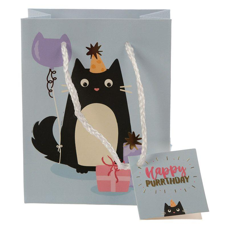Happy Purrthday Feline Fine Cat Small Gift Bag