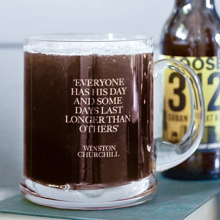 Earlstree & Co. Glass Beer Tankard | Everyone Has His Day