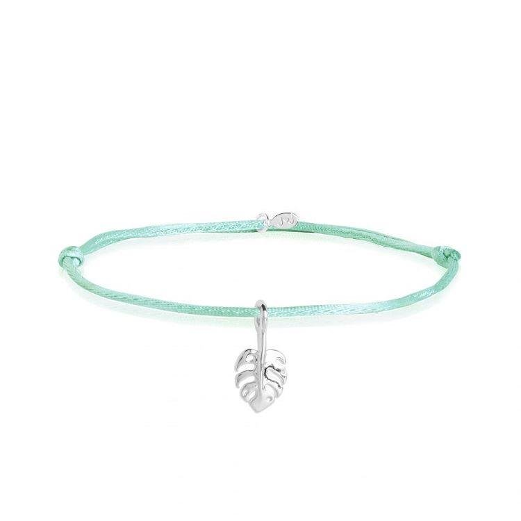Tiny Treasures Green Leaf Bracelet