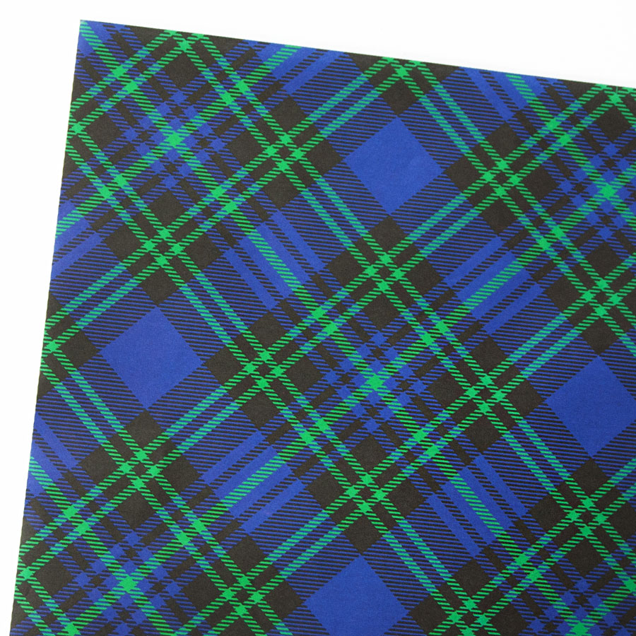 Blue Green Tartan Gift Wrapping Paper