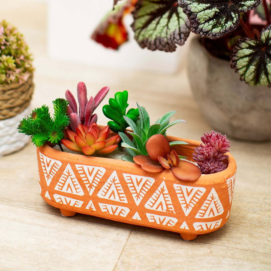 Terracotta Bohemian Trough Planter
