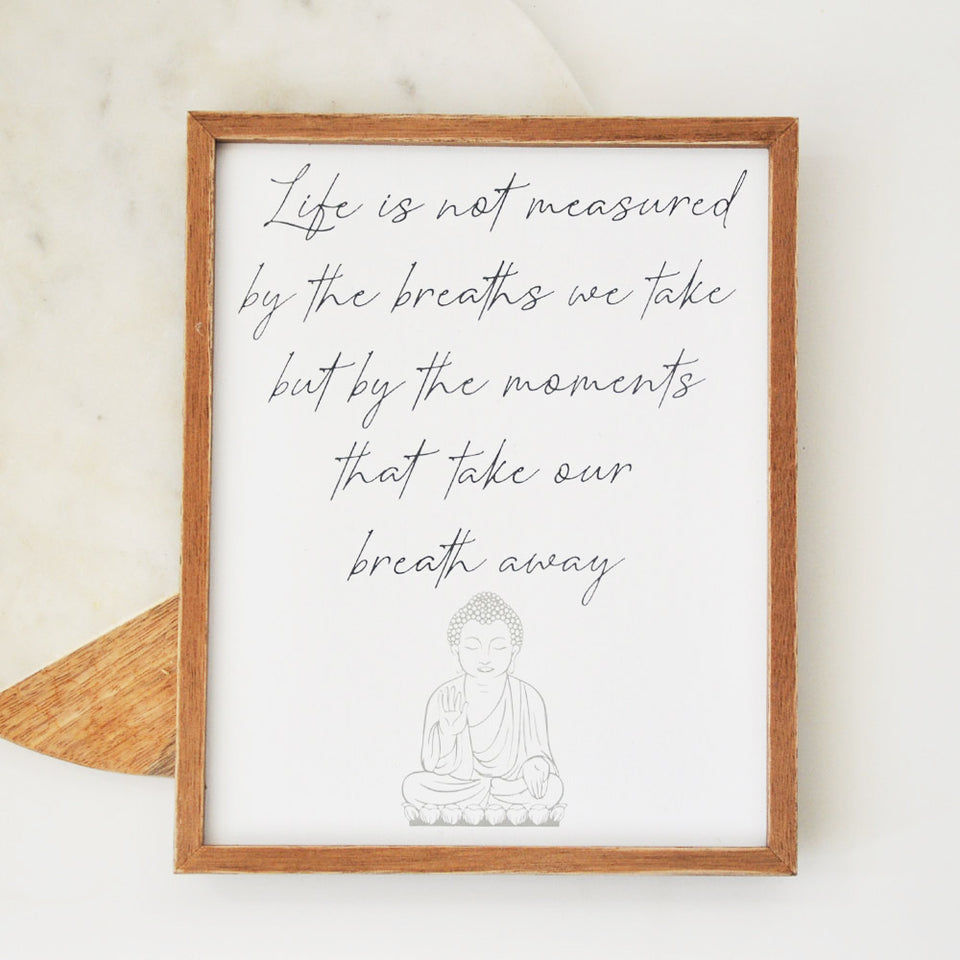 Buddha Plaque Hanging Frame Decoration