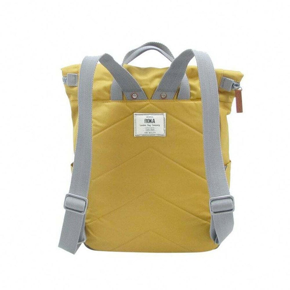 Corn Yellow Nylon Backpack