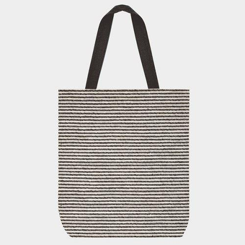 Shopping Bag | Thin Black Stripes