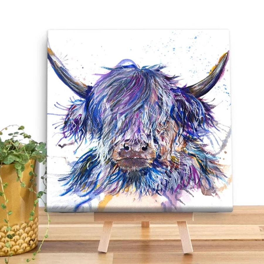 Splatter Scruffy Coo Canvas Square Art Print