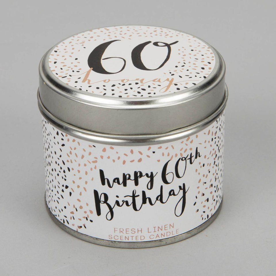 60 Birthday Luxe Candle Tin