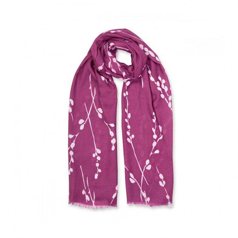 Winter Berry Print Sentiment Scarf